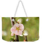 Pink Quince Blossom Weekender Tote Bag