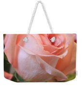 Soft Pink Rose Weekender Tote Bag