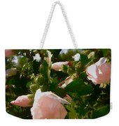 Soft Pink Rose Of Sharon Weekender Tote Bag
