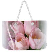 Soft Pink Tulips Weekender Tote Bag