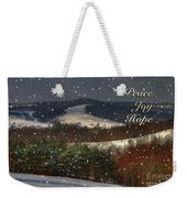 Soft Sifting Christmas Card Weekender Tote Bag