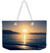 Soft Sunset Lake Weekender Tote Bag