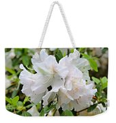 Soft White Azaleas Weekender Tote Bag