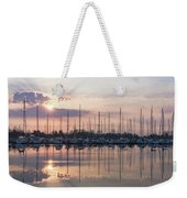 Softly - God Rays And Yachts In Rose Gold And Amethyst  Weekender Tote Bag