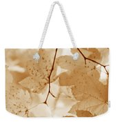 Softness Of Rusty Brown Leaves Weekender Tote Bag