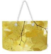 Softness Of Yellow Leaves Weekender Tote Bag