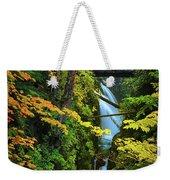 Sol Duc Falls In Autumn Weekender Tote Bag