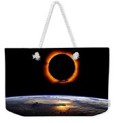 Solar Eclipse From Above The Earth 2 Weekender Tote Bag