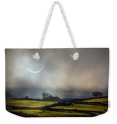 Solar Eclipse Over County Clare Countryside Weekender Tote Bag