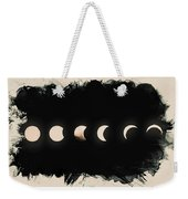 Solar Eclipse Phases Weekender Tote Bag