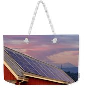 Solar Panels On Roof Of House Weekender Tote Bag