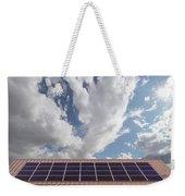 Solar Panels On Roof Top Weekender Tote Bag