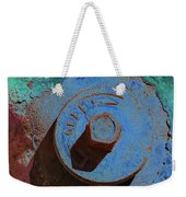 Solarized Rusty Fire Hydrant Weekender Tote Bag