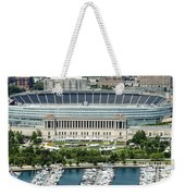 Soldier Field Stadium In Chicago Aerial Photo Weekender Tote Bag