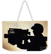 Soldier Holds A Stinger Anti-aircraft Weekender Tote Bag