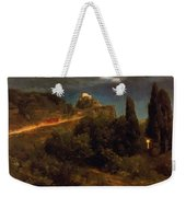 Soldiers Amount Towards A Mountain Fortress Weekender Tote Bag