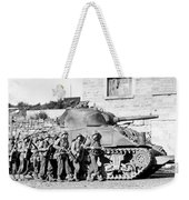 Soldiers And Their Tank Advance Weekender Tote Bag