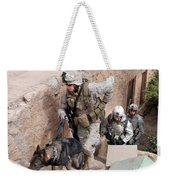 Soldiers Move To The Roof Of A Metal Weekender Tote Bag
