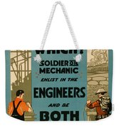 Soldiers Or Mechanic Weekender Tote Bag