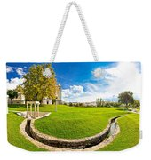 Solin Park And Church Panoramic View Weekender Tote Bag