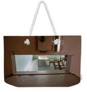 Solitary Confinement Cell Through Door Slat Weekender Tote Bag