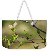Solitary Dogwood Bloom Weekender Tote Bag