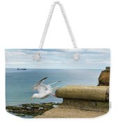 Solitary Seagull Take-off Weekender Tote Bag