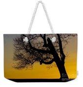Solitary Tree At Sunset Weekender Tote Bag