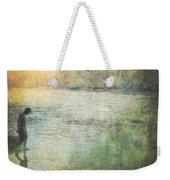 Solitary--walking In Water Weekender Tote Bag