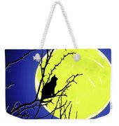 Solitary With Golden Moon Weekender Tote Bag