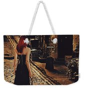Soloist - Solitary Woman With Violin Weekender Tote Bag