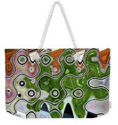 Some Pink And Green Abstract Weekender Tote Bag