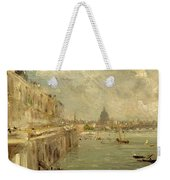 Somerset House Terrace From Waterloo Bridge Weekender Tote Bag by John Constable