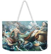 Something Fowl Afloat 2b Weekender Tote Bag