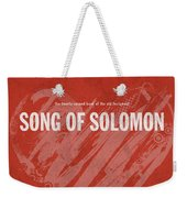 Song Of Solomon Books Of The Bible Series Old Testament Minimal Poster Art Number 22 Weekender Tote Bag