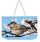 Song Sparrow Dining Out Weekender Tote Bag