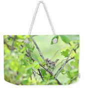 Song Sparrow With Dinner Weekender Tote Bag