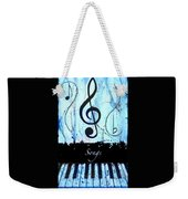 Songs - Blue Weekender Tote Bag