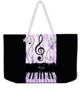 Songs - Purple Weekender Tote Bag