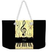 Songs - Yellow Weekender Tote Bag