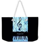Songwriter - Blue Weekender Tote Bag