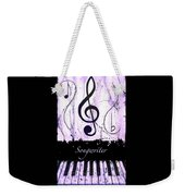 Songwriter - Purple Weekender Tote Bag