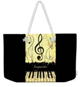 Songwriter - Yellow Weekender Tote Bag