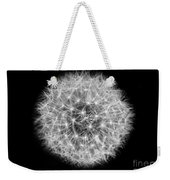Soul Of A Dandelion Black And White Weekender Tote Bag