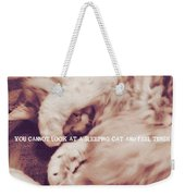 Sound Asleep Quote Weekender Tote Bag