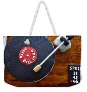 Record Player Cake Weekender Tote Bag