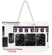 Sound System Rental Dubai - Rent,lease,hire Sound System Dubai Weekender Tote Bag