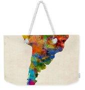 South America Watercolor Map Weekender Tote Bag