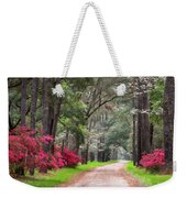 South Carolina Lowcountry Spring Flowers Dirt Road Edisto Island Sc Weekender Tote Bag