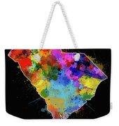 South Carolina Map Color Splatter 2 Weekender Tote Bag